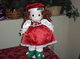 "1999 Precious Moments 16"" Red Christmas Doll - $15.99"