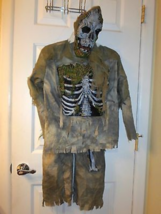 3 Piece Halloween Zombie Costume - Sz Medium 8-10 - $24.99