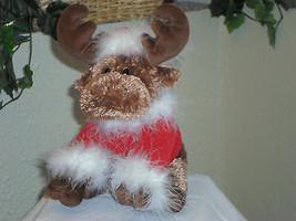 Christmas Reindeer Santa Plush Stuffed Animal - $14.99