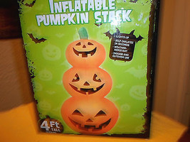 Halloween Lighted Pumpkin Stack Airblown Inflatable - $50.54 CAD