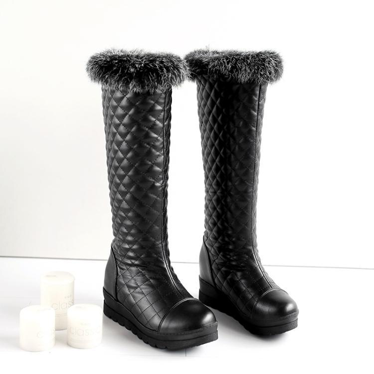 PB066 sexy thick lining & sole snow boots, warm & comfortable, size 34-42, BLACK