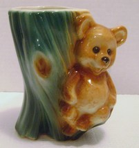 Vintage Royal Copley Brown Teddy Bear Pottery Ceramic Planter - ₨1,443.83 INR