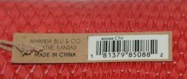 Amanda Blu 85088Chr Large Bright Red Clutch Inside Pockets image 6