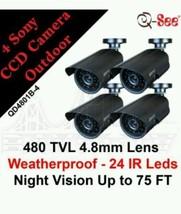 4-pack Night Day Burglary Color Weatherproof Surveillance Camera Kit Pro... - $608.41