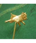 Antique BULLDOG Stickpin Victorian mens lapel pin art nouveau stick pin ... - $95.00