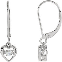 14k White Gold 1/8 CT Diamond Heart Mystara Earrings - $494.99