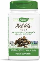 NATURE'S WAY BLACK COHOSH ROOT 100 VEGAN CAPSULES 03/31/25 - $9.89