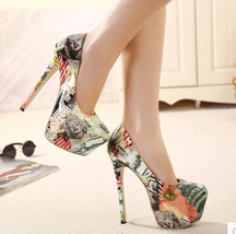 PP049 sexy stilletto high-heeled pumps covered with stud, gold heels,siz... - $69.99