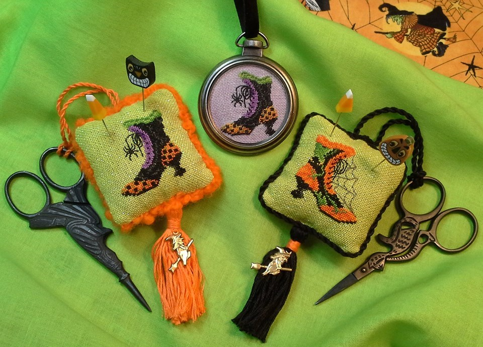Imelda's Closet halloween cross stitch chart Blackberry Lane Designs