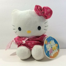 "McDonalds Restaurant Promo Hello Kitty 1999 White Cat Orange Pink Outfit 7"" - $9.90"