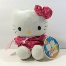 "McDonalds Restaurant Promo Hello Kitty 1999 White Cat Orange Pink Outfit 7"" - $9.90"