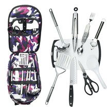 Camping Utensil Cookware Set Outdoor Camo Instruments Dinnerware Portabl... - $44.50