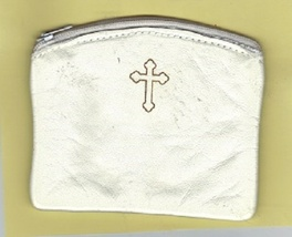 Rosary Case - White - Zipper Closer - MB2-White - $12.99