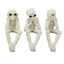 See, Hear, Speak No Evil Alien Shelf Sitter Computer Top Sitters - $23.99