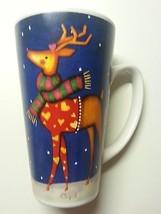 Mug Reindeer Latte Tall Donner Cupid R Ruegger Certified Christmas Holid... - $9.00