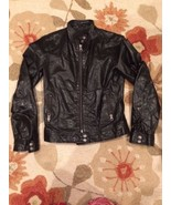 GAP Women's Black Leather Lightweight Motorcycl... - $69.98