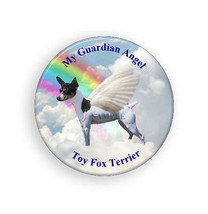 Toy Fox Terrier Pet Dog is My Guardian Angel Pi... - $5.30