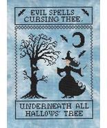 All Hallow's Tree halloween cross stitch chart Stitchers Anon - $10.80