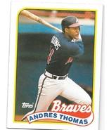 1989 Topps Baseball Card, #523, Andres Thomas, Atlanta Braves - $0.99