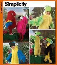 Simplicity 3663 Child's Parrot Flamingo Toucan Bird Costume Pattern 3-8 - $32.99