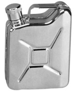 Stainless Steel Mini Jerry Gas Can Flask Liquid Fluid 6 oz. - $15.99