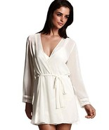 Flora Nikrooz Womens Love Cover-up Wrap Robe Large Ivory - $37.53