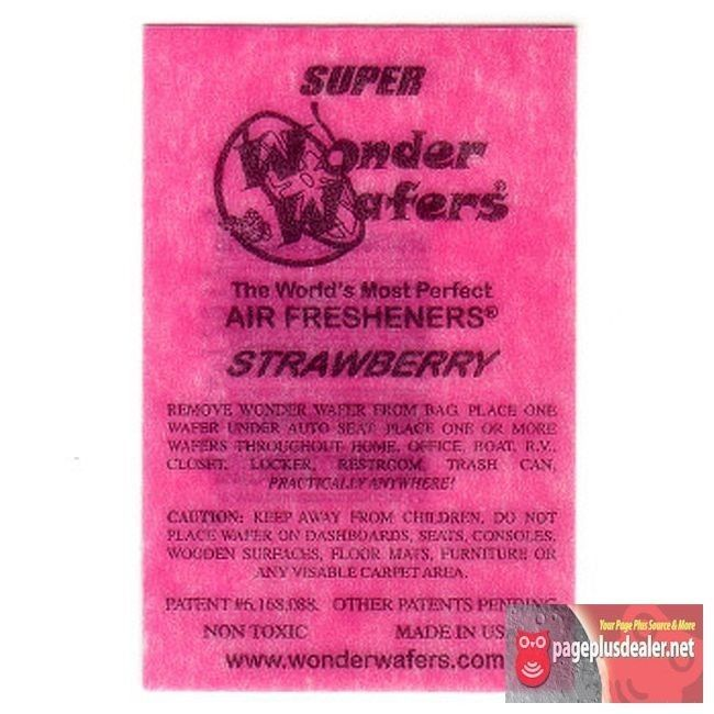 16- Wonder Wafers Strawberry Scent~Amazingly Fresh~ Air Freshener