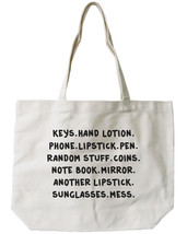 My Belongings Canvas Tote Bag - 100% Cotton Eco Bag, Shopping Bag, Book Bag - $15.99