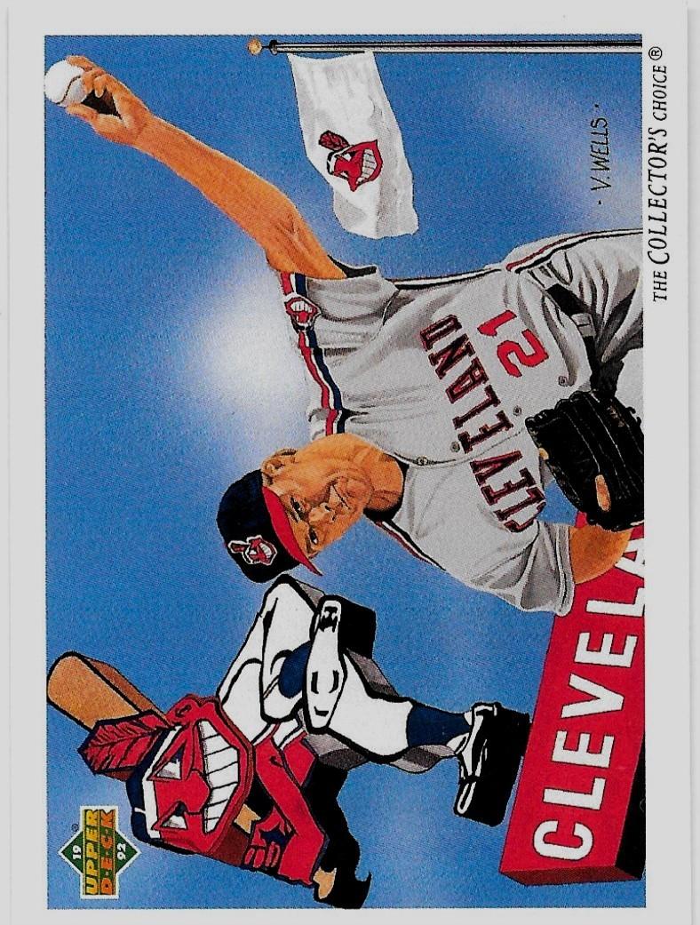 1992 Upper Deck Baseball, #95, Greg Swindell, Cleveland Indians, Team Checklist - $0.99