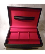 JC Penney Silk Covered Jewelry Box 10x7 Organizer Made in Sweden  New Old Stock - $30.99