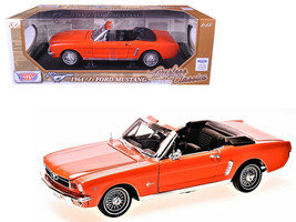 1964 1/2 Ford Mustang Convertible Orange Timeless Classics 1/18 Diecast ... - $55.42