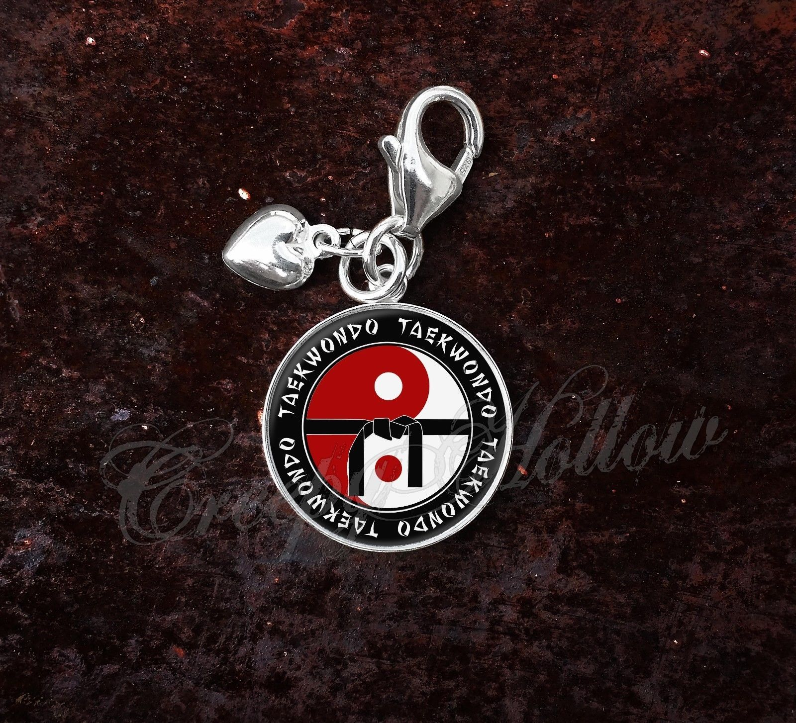Primary image for 925 Sterling Silver Charm Taekwondo Martial Arts MMA