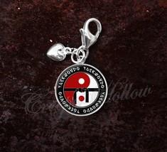 925 Sterling Silver Charm Taekwondo Martial Arts MMA - $25.25