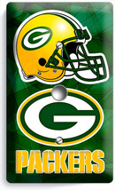Green Bay Packers Football Team Logo Light Dimmer Cable Wall Plate Boys Man Cave - $8.99