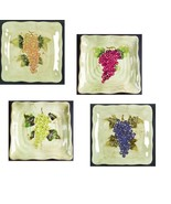 Cabernet Dinner Serving Plate Tabletops Unlimited Hand Painted Collectio... - $14.99