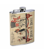 Vintage Poster D187 Flask 8oz Stainless Steel Honor The Brave Memorial Day - $12.82