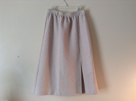 Alfred Dunner Womens Size 10 Skirt Elastic Waist A-Line Textured Beige Waistband