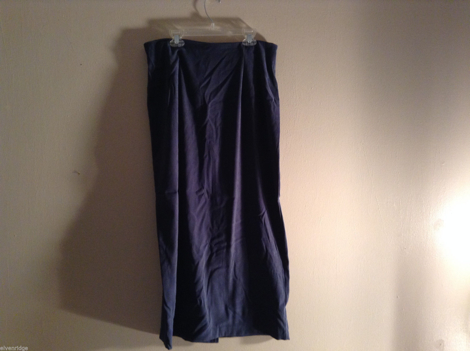 "Briggs Women's Size 12 Skirt Slightly Stretchy Knit Dark Blue 34"" Long Maxi"