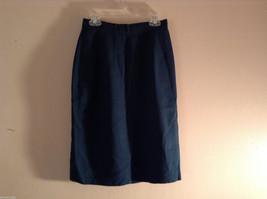 Amanda Smith Petites Women's Size 4 4P Dark Green Pencil Skirt w/ Front Pockets