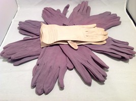 Lot of 7 pair of multipurpose purple gloves, and 1 pair of white gloves image 2