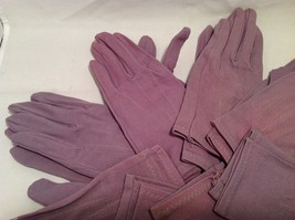 Lot of 7 pair of multipurpose purple gloves, and 1 pair of white gloves image 5