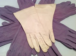 Lot of 7 pair of multipurpose purple gloves, and 1 pair of white gloves image 6
