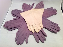 Lot of 7 pair of multipurpose purple gloves, and 1 pair of white gloves image 7