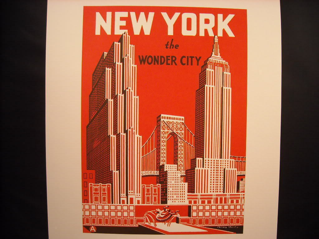 New York City Poster reprint  The Wonder City vintage image