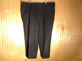 Men's  Black Joseph and Feiss Pleated Dress Pants 100 Percent Wool see measures