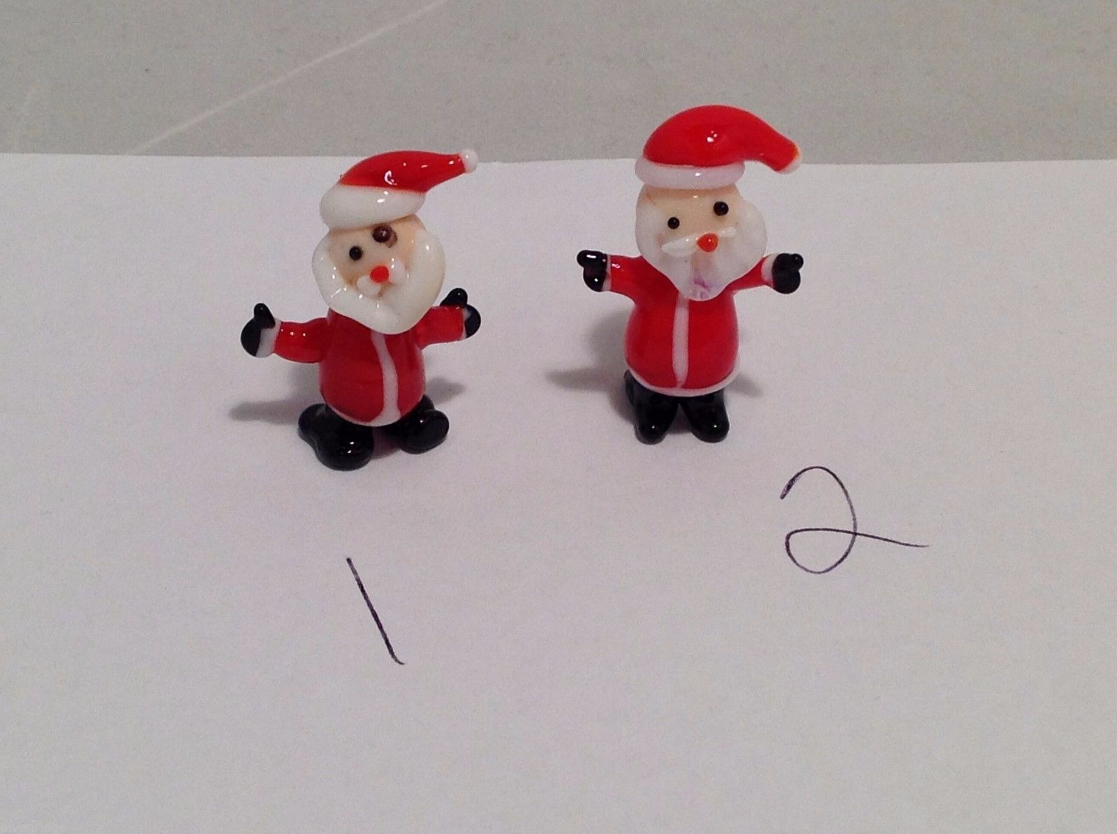 Micro miniature hand blown glass Santa In Christmas Hat USA NIB choice of 1 item