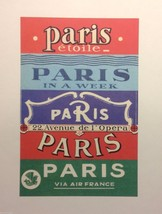 Reprint Vintage Paris Posters Collection of 4 Sourced from vintage calendar