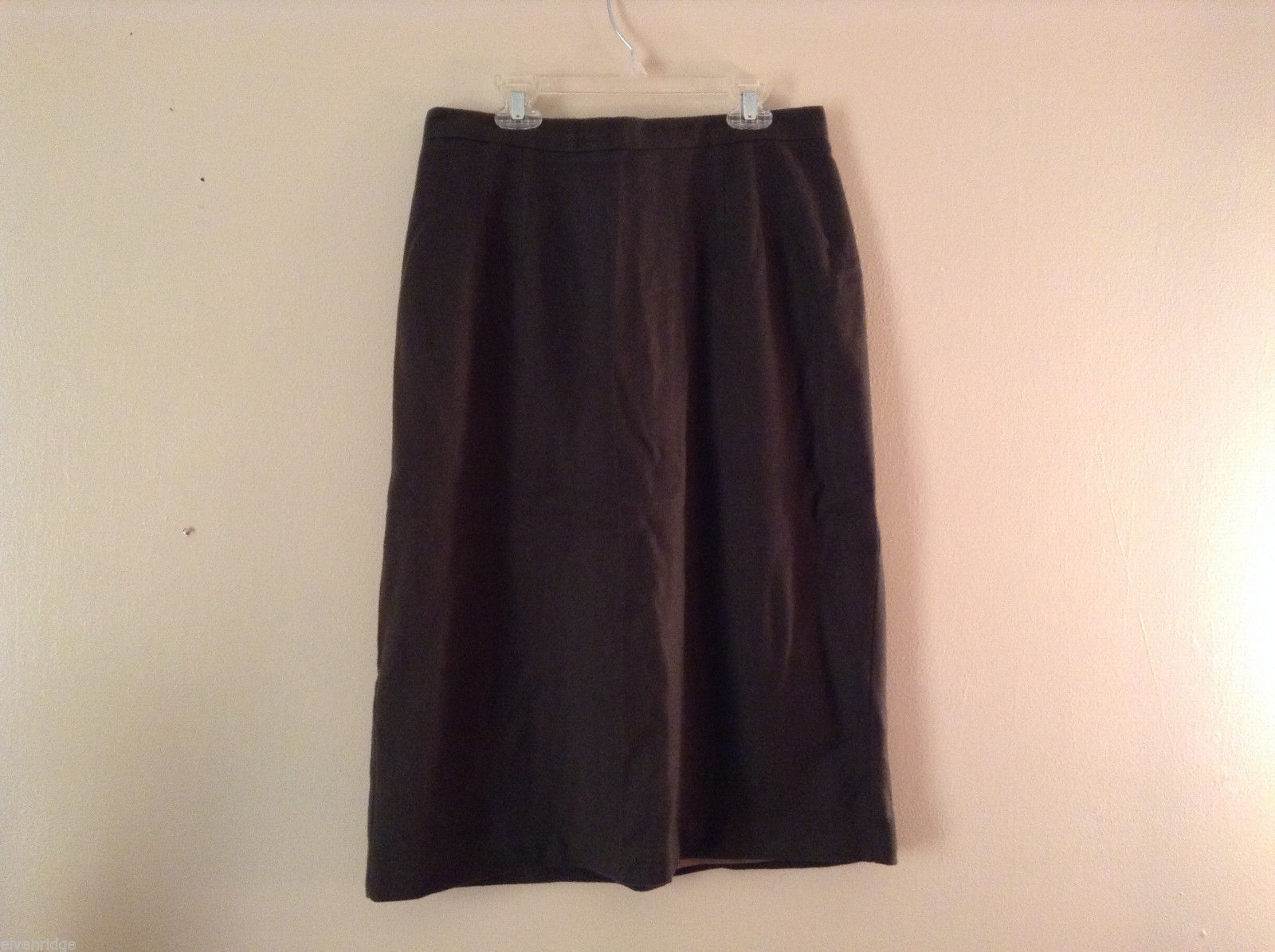 No Brand Women's Size 14 Skirt A-Line Lined 100% Wool Dark Forest Green
