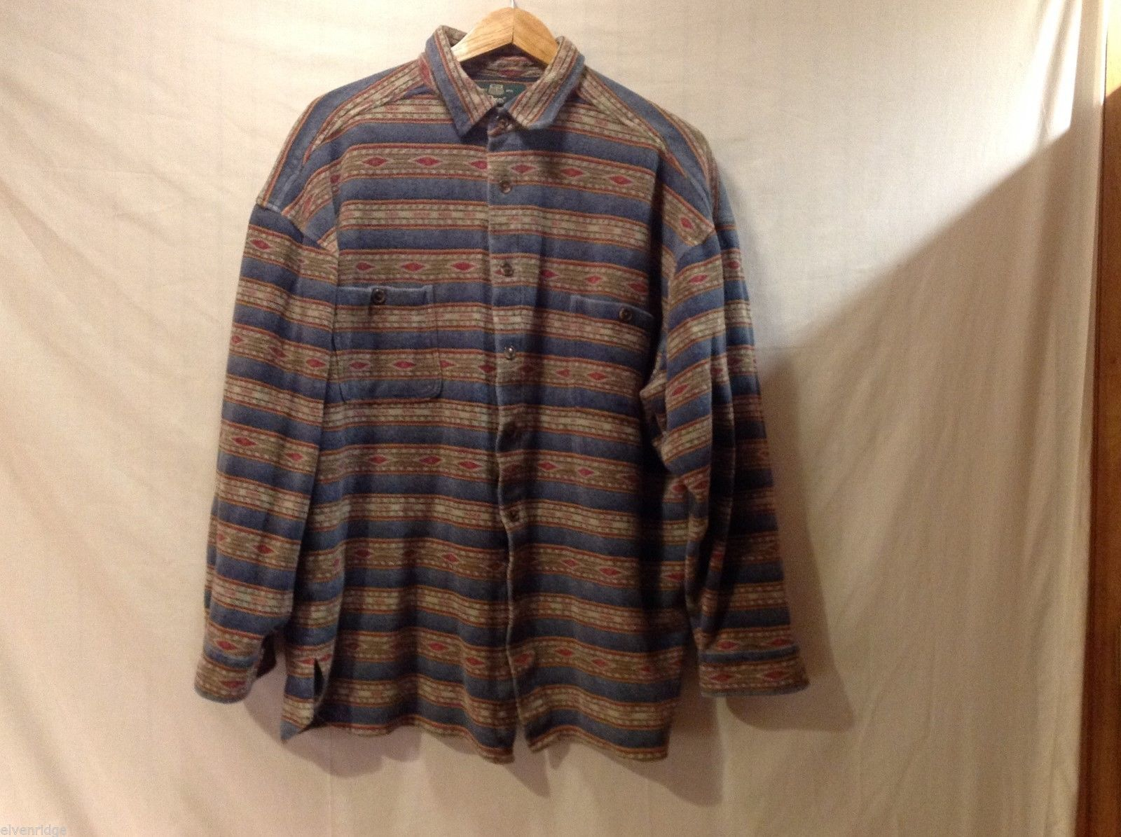 Unisex Orvis Multi-colored Striped Flannel, Size Large