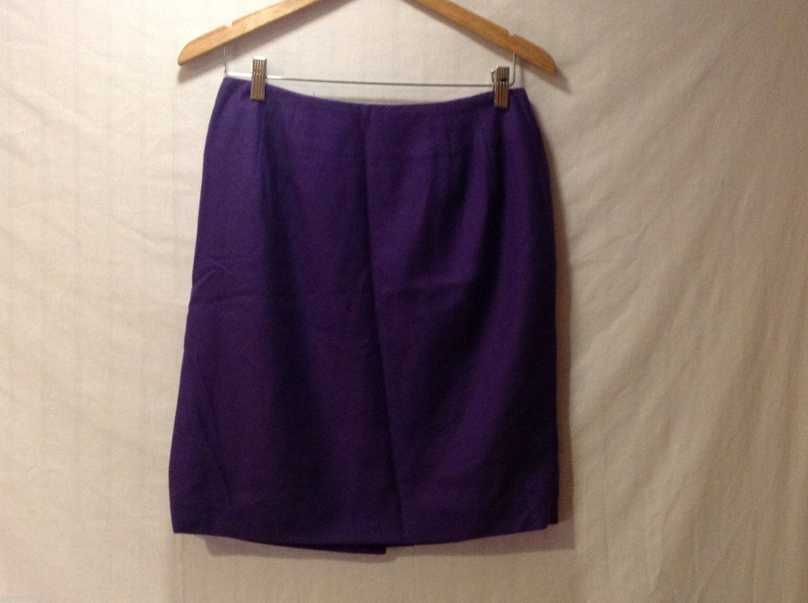 Womens Amanda Smith Pure Wool Purple Skirt, Size 12